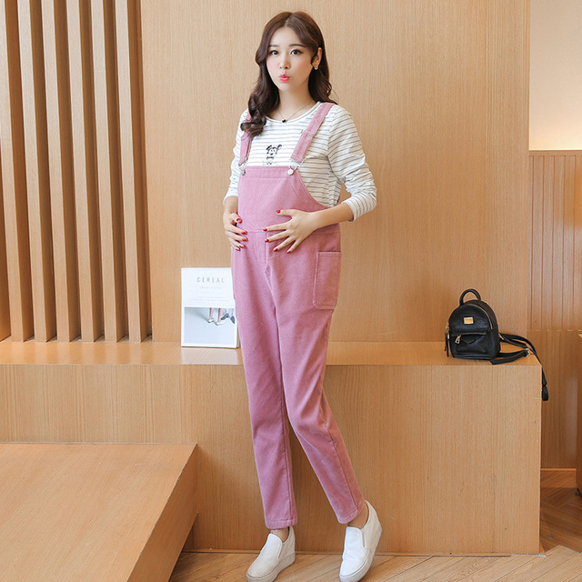 Pregnant women pants autumn and winter warm care belly pants, thick pants plus cashmere Maternity pants