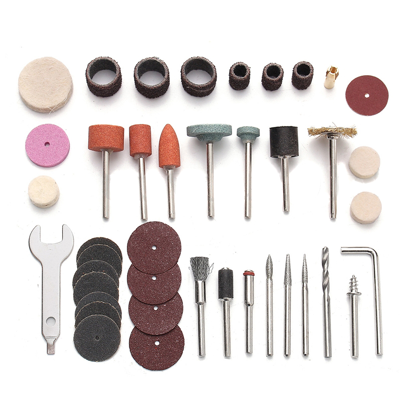 40Pcs x Rotary Power Tool Accessory Set For 1/8'' Shank Sanding Grinder Polish Accessories