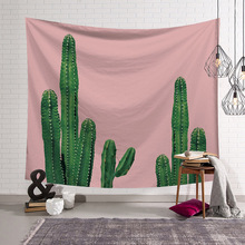 Tropical Plants Cactus Tapestry Mexican Style Wall Hanging Home Textile Girls Room Decoration Accessories