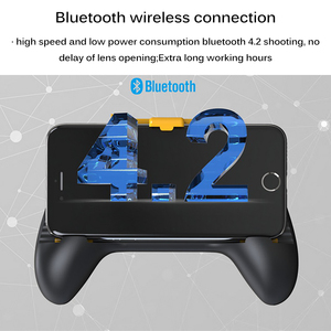 Image 3 - Powstro Phone Gamepad Holder With Cooling Fan Mobile Phone Controller Joystick Power Band Gamepad For Pubg Phone Holder