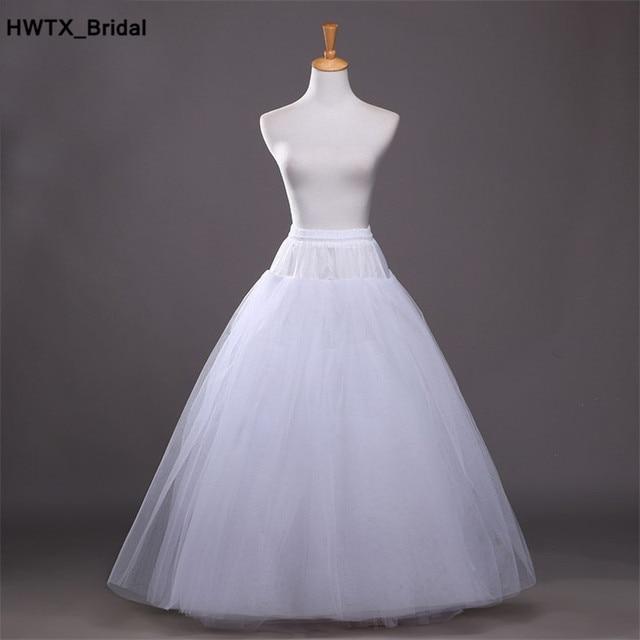 ร้อน Tulle กระโปรง Slip อุปกรณ์จัดงานแต่งงาน 2018 เจ้าสาว Chemise ไม่มีห่วงแต่งงาน Petticoat Crinoline