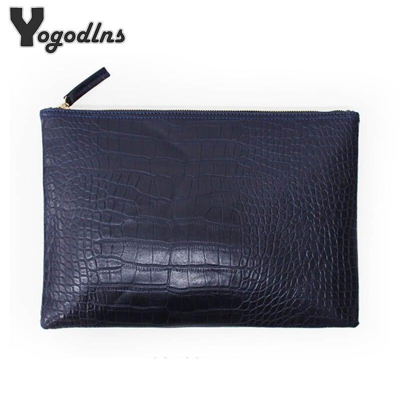 Fashion clutch evening bag female Clutches Handbag crocodile grain women's clutch bag leather women envelope bag free shipping(China)
