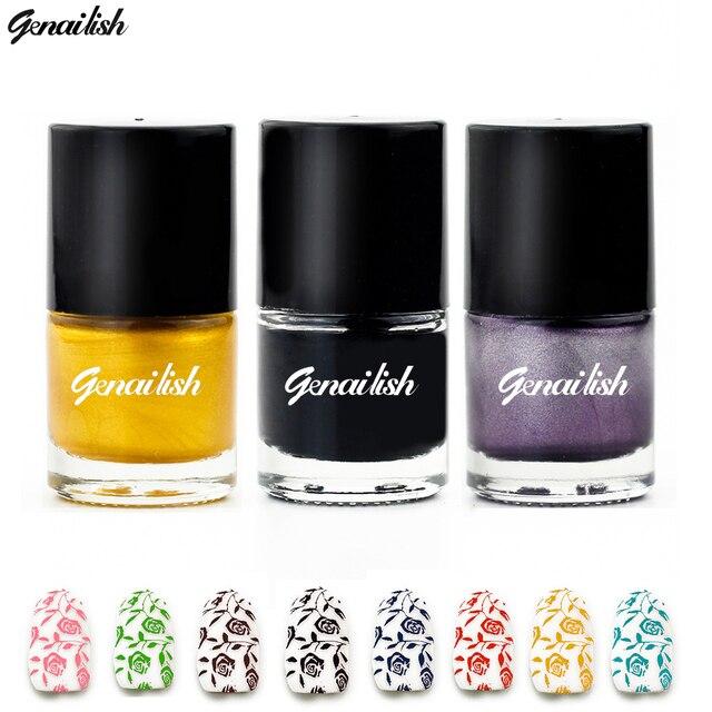 Лаки для ногтей штамп польской Дизайн ногтей 24 Цвета тиснения лак Лаки спрей Vernis а Ongle genailish-gc1