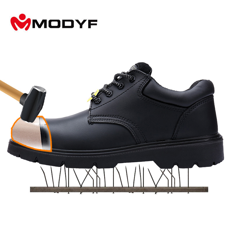 Modyf Army boots for Men oxford steel toe cap shoes Military outsole high quality leather breathable lining protective shoes цены онлайн
