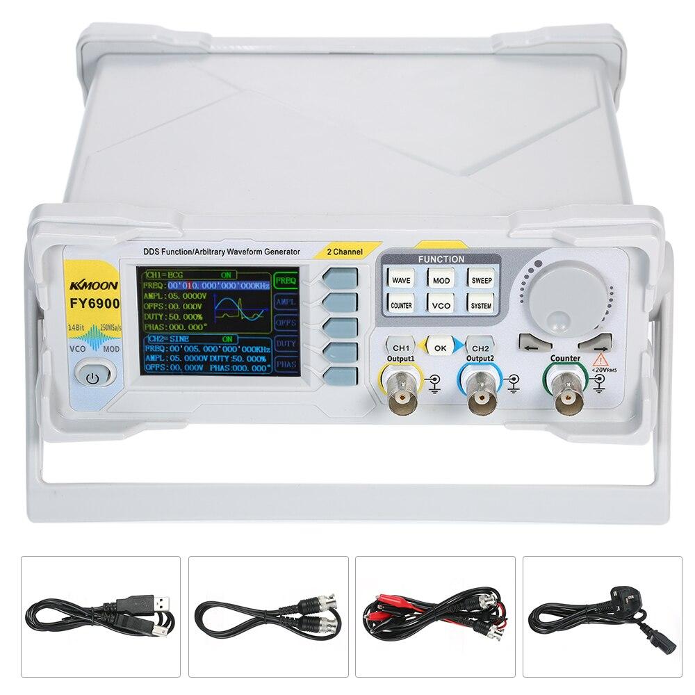KKmoon double canal DDS générateur de Signal de forme d'onde arbitraire générateur de haute précision DDS compteur de fréquence de Source de Signal d'impulsion