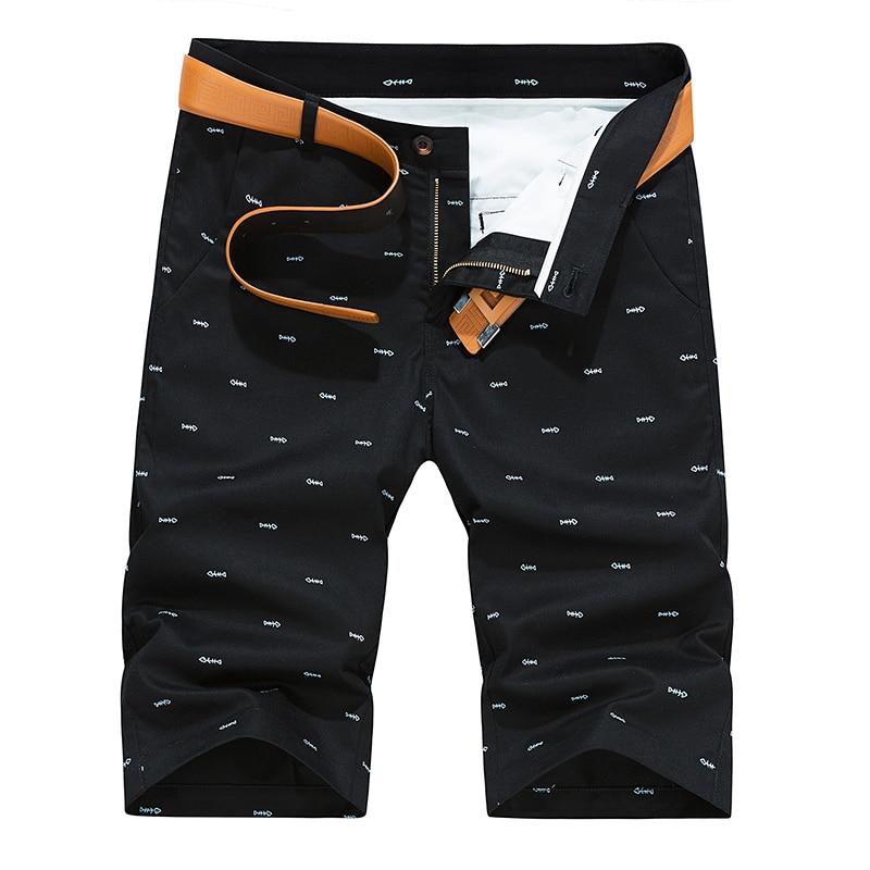 Woodvoice Fashion Brand-clothing Knee Length Shorts For Men New Man's Casual Shorts Pocket Cargo Shorts Men Plus Size 40 Solid