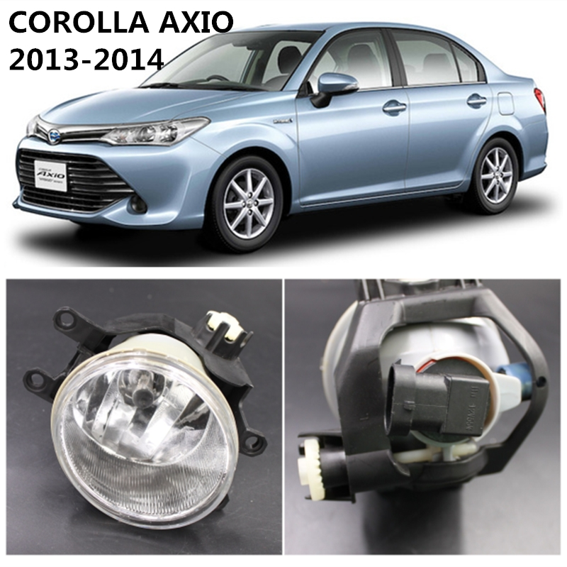 For TOYOTA COROLLA AXIO 2013-2014  Car Styling Fog Lights 1 SET Fog Lamps car styling car body trims for toyota corolla 2013 2014 2015 2016 2017 2018 e170