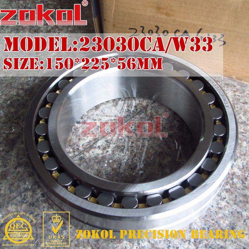 ZOKOL bearing 23030CA W33 Spherical Roller bearing 3053130HK self-aligning roller bearing 150*225*56mmZOKOL bearing 23030CA W33 Spherical Roller bearing 3053130HK self-aligning roller bearing 150*225*56mm