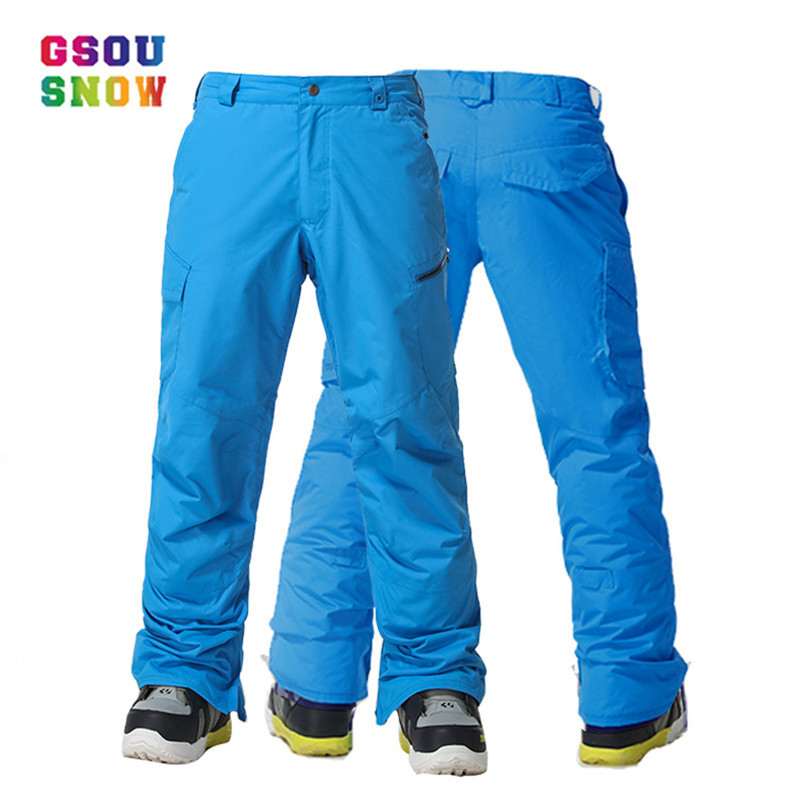 Gsou Snow Skiing Pants Men Snowboarding Winter Outdoor Windproof Ski Pants Waterproof Warmful Breathable Thicker High Quality gsou snow high quality men ski pants snowboarding colorful warm waterproof windproof breathable skiing pants