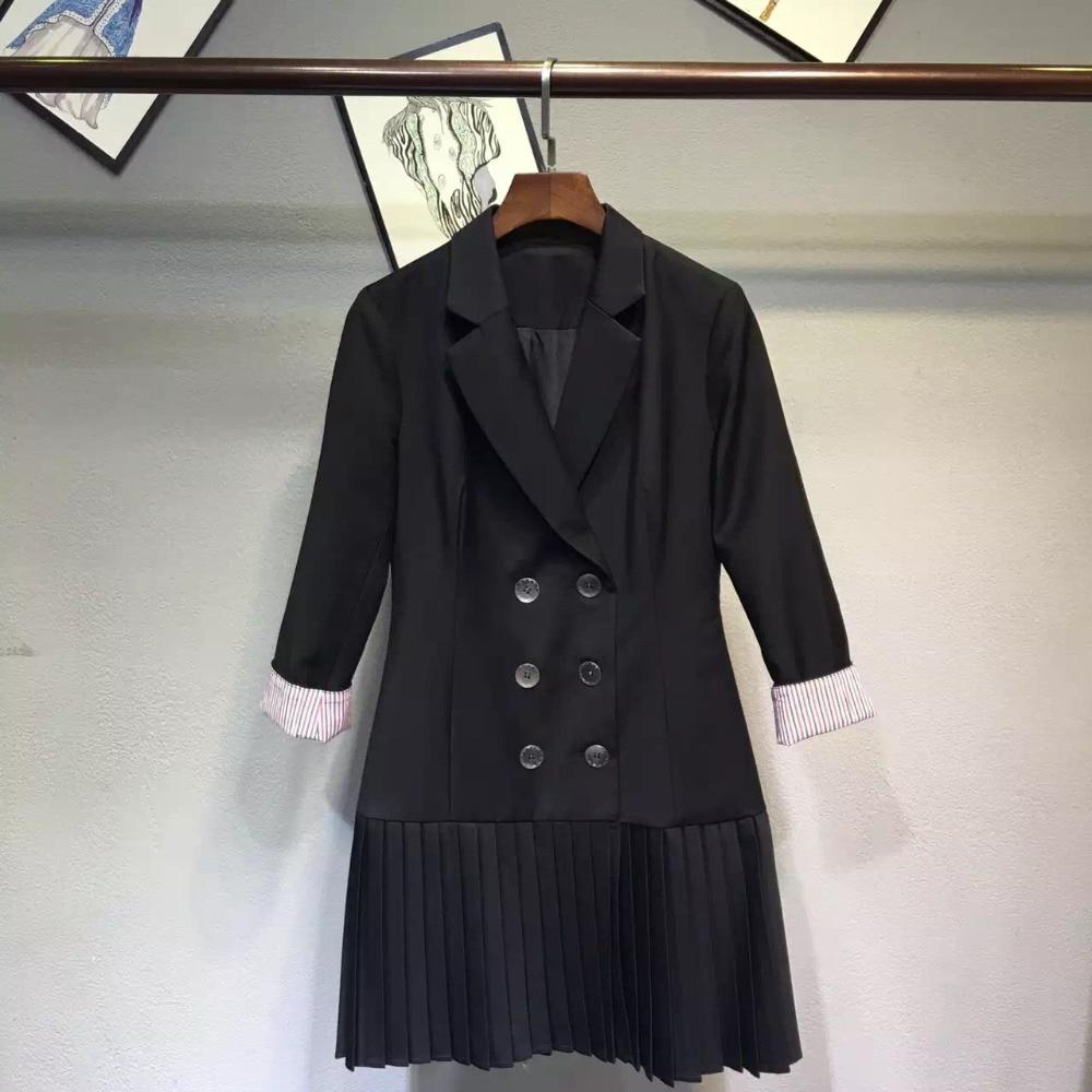 Survêtement 2017 Et Femmes Gris Patchwork Jcket S xl Casual Qualité Couleur Noir Top Double Taille Sein Mode Longue Du Haute waBEv5qP