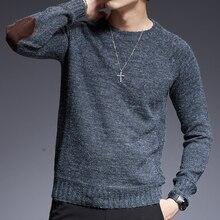 2020 neue Mode Marke Pullover Für Herren Oansatz Slim Fit Jumper Knitting Solid Farbe Herbst Koreanische Stil Casual Herren Kleidung
