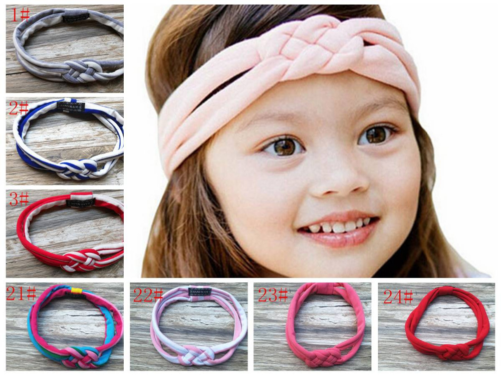 Vogue cotton Sailor Knot turban headband twisted stripe head wrap girl cute  headwrap knit Twist Knotted Turban FD6556-in Hair Accessories from Mother    Kids ... 6931e32805e