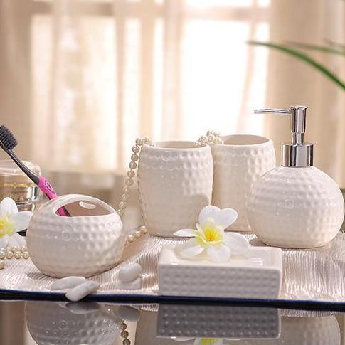 Porselein badkamer sets keramische golfbal vorm kuiltjes grain ...