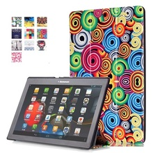 Colorful PU Leather Case Flip Cover Case For Lenovo Tab 2