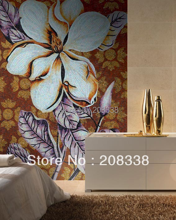 Direct Selling Sale Freeshipping Tablet Mixed Bathroom Tiles Building Materials Floor Mosaic Art Mural Stone And Gold Glass