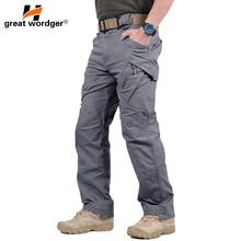 цены IX7 Tactical Men Cargo Pants Men Outdoor Multi Pocket Cotton Military Wear-resisting Climbing Hiking Trekking Trousers
