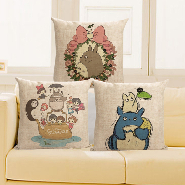 Cushion Cover Cartoon Body Pillow Anime Pillowcase Totoro
