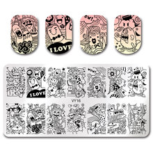 VY16 Halloween Style Nail Art Stamping Image Plates DIY Polish Printing Stencil Manicure Nail Template недорого