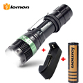 G700 3000LM CREE Q5 Rechargeable police Tactical Flashlight Aluminum AAA Led Flashlight Torch 18650+Charger+Battery Holder