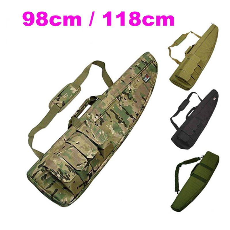 98CM Waterproof Tactical Airsoft Rifle Scope Case Shot  gun Pack Hunting Military Paintball Foam Rubber Sniper Long Gun Bag Gear-in Hunting Gun Accessories from Sports & Entertainment