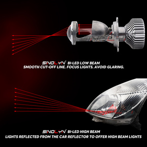 Image 4 - Sinolyn Bi led Lens LED H4 9003 Projector Headlight Lenses Mini 1.5 60W 5000K Tuning Car Motorcycle Light Accessories Retrofit