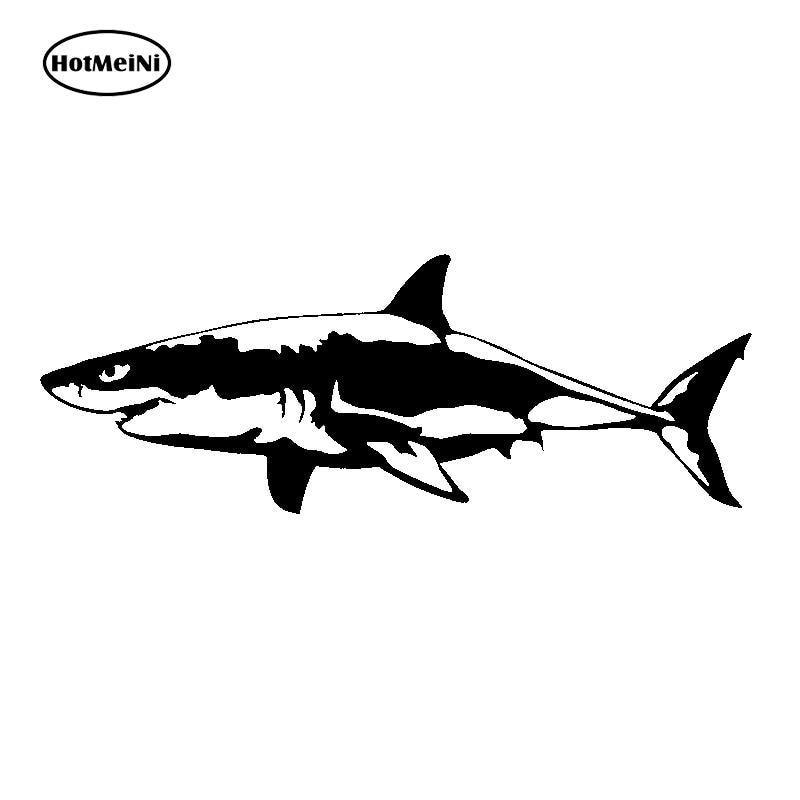 Word Shark Shaped Like a Shark Vinyl Car Window Decal Bumper Sticker US Seller