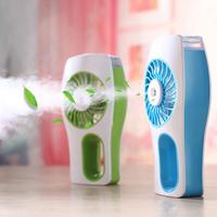 MR 002 40ml Mini Spray Humidification Fan Desktop Mini Beauty Spray Fan Mobile Power USB Humidification