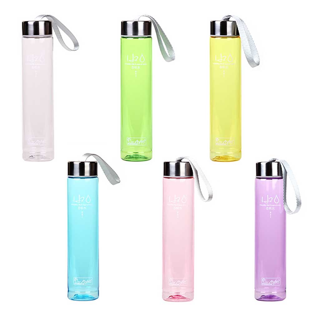 WTCABROE 275ML Portable No frosted Water Bottles Summer Outdoor Sports Unbreakable Transparent Plastic 6 Colors My Water Bottle image