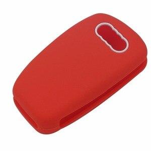 Image 5 - Jingyuqin housse pour clés de voiture à 3 boutons, en Silicone, housse pour clé de voiture, pour Audi A1, A3, Q3, Q7, R8, A6L, TT