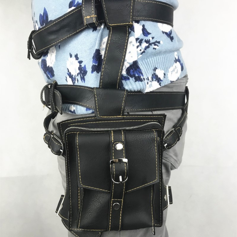 Game Playerunknown's Battlegrounds PUBG Level 3 PU Leather Waist Pack Belt Bag Cosplay Pocket