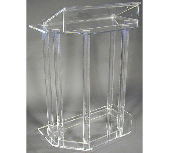 Free Shipping Modern Acrylic Smart Podium Plexiglass Pulpit School Church Lectern Podium Reception Desk