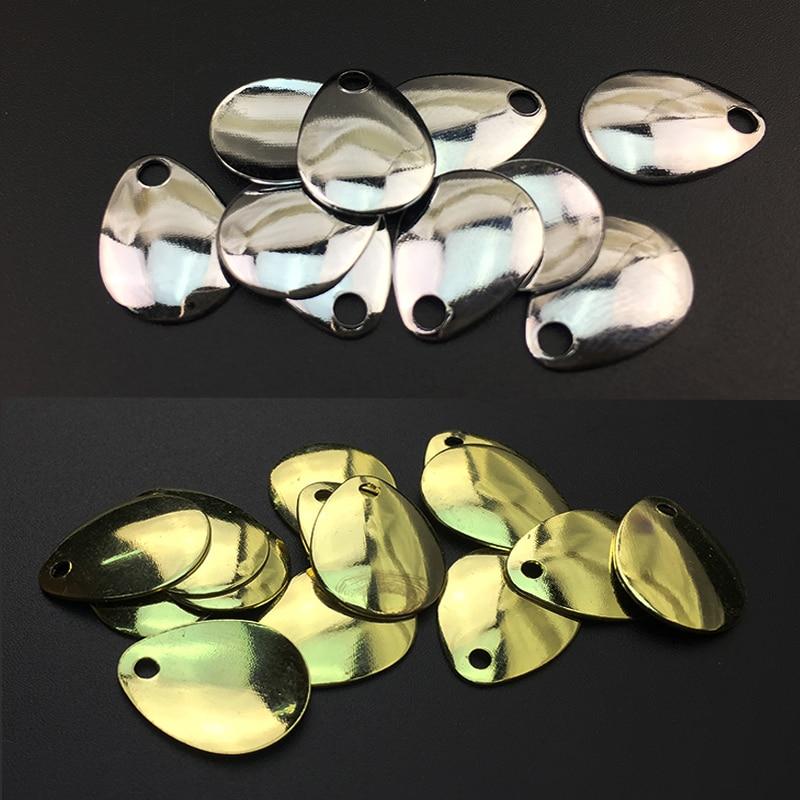 (30PCS) მოოქროვილი კოლორადოს sequins პირები ეკრანები სიზუსტის გასაპრიალებელი ხმაური გაჯეტები მუხუდოს გზის ქვე-სატყუარა თევზაობა აქსესუარები