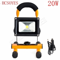 20w led flood lighting rechargeable Led emergency lamp Portable Spotlight battery powered waterproof outdoor led spot lamp