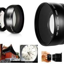 55 мм 0.45X супер широкоугольный объектив с макро для Nikon D3400 D3500 D5600 D7500 с AF-P DX NIKKOR 18-55 мм f/3,5-5,6G VR объектив
