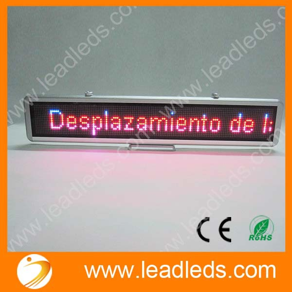 led car display for car and shops moving message more clearly