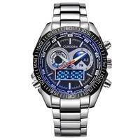 Aimecor Quartz Watches Man Luxury Dual Movt Men Quarz Analog Digital LED Sport Watches Men High