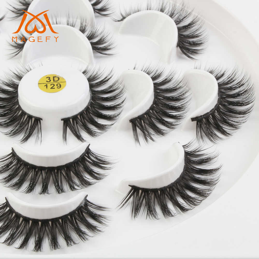 0a65aa2fe46 ... MAGEFY 1/3/5/7pairs 3D Mink Lashes Natural Long False Eyelashes Volume  ...
