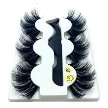 Cílios postiços de vison 20 25mm, extensão de cílios naturais com volume dramático para extensão pinças