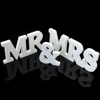Hot Sale 1 Set Vintage MR MRS Wedding Decoration Banner Wedding Paper Craft Photo Props Just