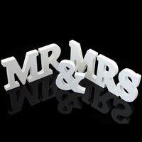 Hot Sale 1 Set Vintage MR MRS Wedding Decoration Banner Wedding Paper Craft Photo Props Just