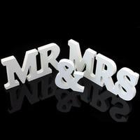 Vendita calda 1 set Vintage MR & MRS Wedding Decorazione Banner Matrimonio Mestiere di Carta Puntelli Foto Appena Sposato Ghirlanda Marrage casa