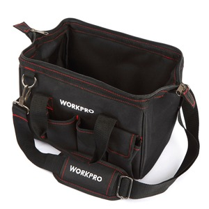 Image 5 - WORKPRO Tool Bags 600D Close Top Wide Mouth Electrician bags S M L XL for Choice