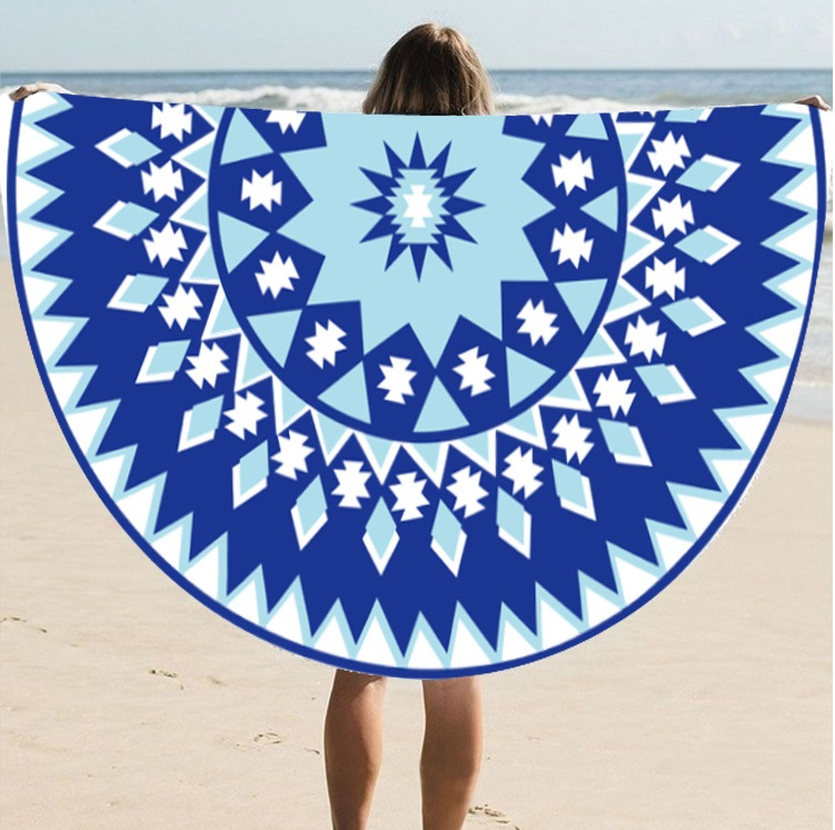 Supply Quality Round Silk Sunscreen Digital Printed Beach Towel St06-60