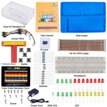 Wholesale prices SunFounder Raspberry Pi 3/2/B+ Ultimate Starter Kit 8G TF card Raspbian Preloaded Detailed Manual for Beginners US Plug