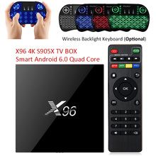 X96 Android 6.0 TV Box Amlogic S905X Max 2 GB RAM + 16 GB ROM Quad Core WIFI HDMI 4 K * 2 K HD Smart Set Top BOX Media Player PK A95X