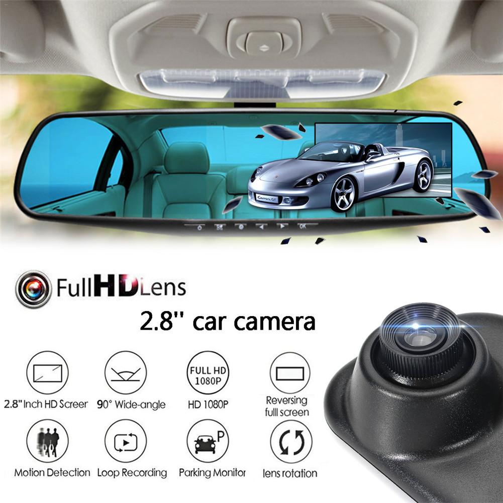Car DVR Car-Driving-Recorder Cam-Camera Rearview-Mirror Dash 1080P HD Motion-Detection