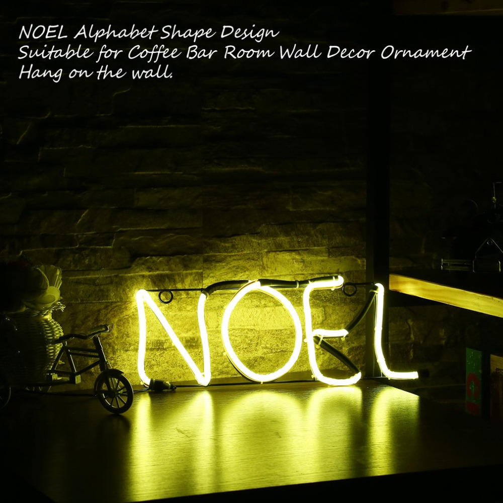 Neon Sign Light NOEL Alphabet Shape Design Room Wall Decorations Home Love Ornament Coffee Bar Mural Crafts image