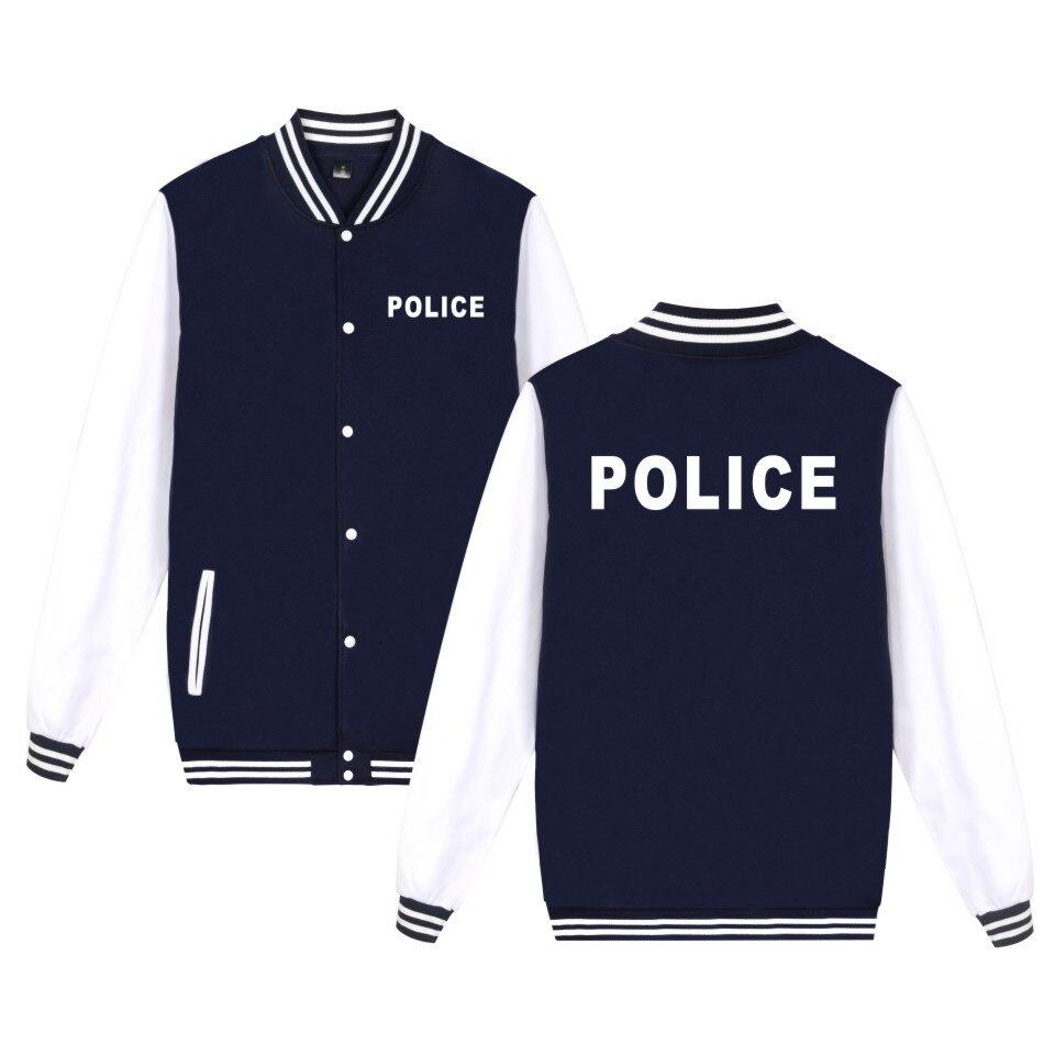 Police Vêtements Hommes Veste De Mode Manteau D'impression Hommes Femmes Police Veste Top Marque Casual Baseball Uniforme