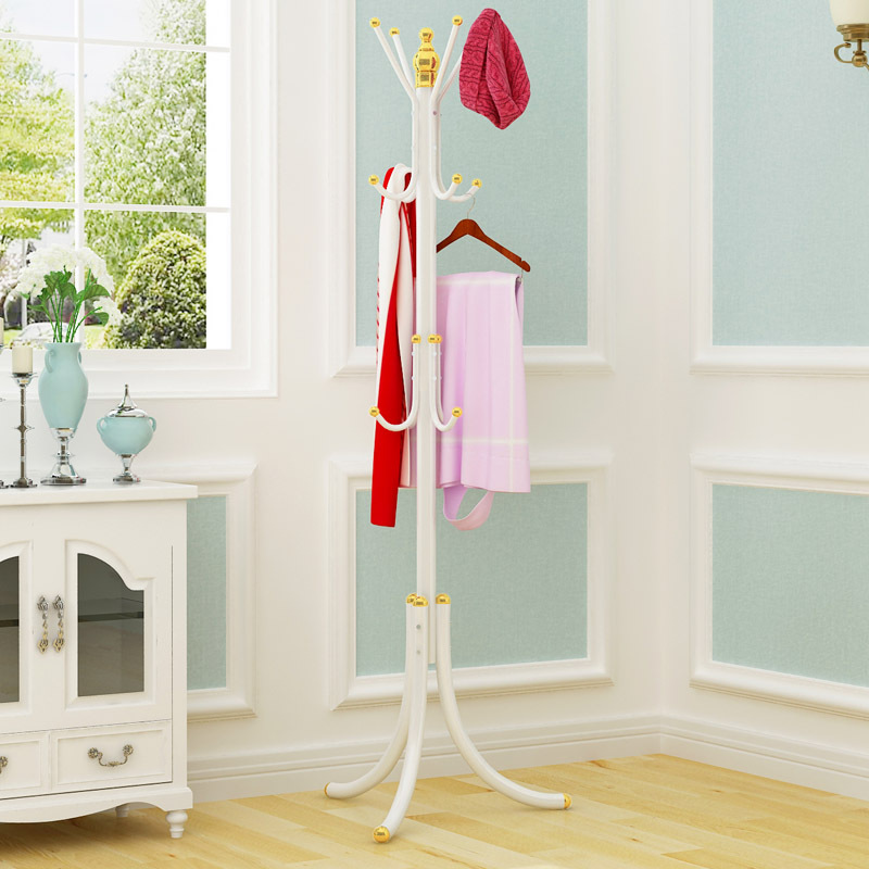 Iron Coat Rack Floor Clothes Hanger Hat Rack Living Room Bedroom Display Stand Easy Assembly Creative Modern Home Furntiure