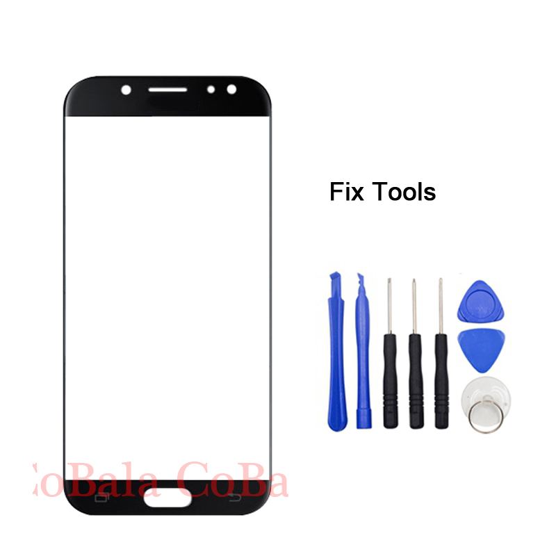 LOVAIN 1PCS Genuine Original For Samsung Galaxy <font><b>J7</b></font> Pro J730 <font><b>J7</b></font> 2017 Front Outer Glass Lens Touch Screen Panel+Tools